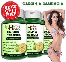 GARCINIA CAMBOGIA Capsules 100% Organic Weight Loss Fat Burner Slim Metabolism