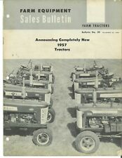 Ih International Sales Bulletin Cub 130 230 350 450 650 Farmall Tractor Brochure