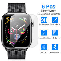 6Pcs Watch Screen Protector for Apple Watch 42mm/38mm Series 3/2/1 Anti-Bubble