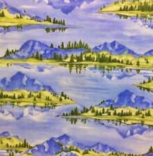 Moda~Buddies Scenic~Laughing Bear Art~1/2 Yard~ Sky Blue #1262-11~100% Cotton~