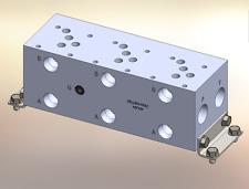 Hydraulic manifold A5P33P D05 Parallel NPT / AD05P033P / BM-ASP05P3-03-1/Z /