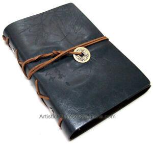 Asian Bamboo Leather Journal - Dark Grey