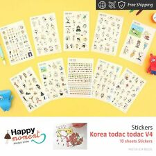 Korea todac todac V4 Stickers For Diary Day Planner & Organizer 10 sheets