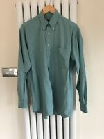 Mens Ted Baker Turquoise Shirt Size 3 Medium Long Sleeve Shirt