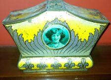 1920 Ca RARA SCATOLA IN LATTA BISCOTTI GRAY DUNN & Co. GLASGOW INGHILTERRA
