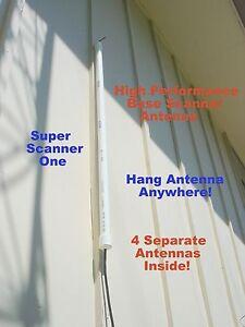 Super Scanner 1, Base Scanner Antenna, 20'Coax,  Four Separate Antennas Inside!