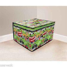 CHILDRENS JUMBO TOY STORAGE CHEST BOX BOYS ROADWORKS ROAD WORKS 50x30x40cm