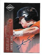 ANDREW SUSAC  2011 LIMITED AUTOGRAPH #7  SERIAL #256/299 FREE COMBINED S/H