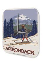 Agence Voyage Vacances Décoration Horloge  Les skieurs dans les montagnes de l'
