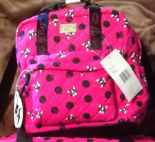 BETSEY JOHNSON DOG PUG  Backpack Quilted  Travel Bag  NEW PINK
