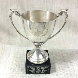 1996 Vintage Golf Trofeo Coppa Banca Di Cipro Memorabilia Occidente Essex Club