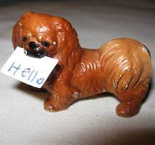 Antique Hubley Cast Iron Toy Usa Pekingese Dog Art Statue Sculpture Paperweight