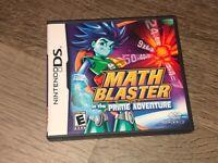 Math Blaster in the Prime Adventure Nintendo DS Complete CIB Authentic
