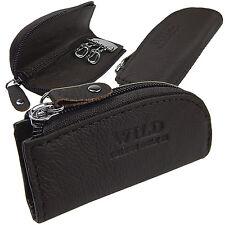 Schlüsseltasche  Schlüsseletui  Schlüsselmappe  Leder  dunkel Braun  a5158