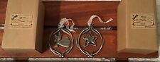 Ganz Friendship Christmas Ornaments Pewter (2) Total