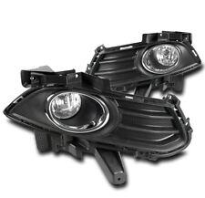 13-16 FORD FUSION MONDEO BUMPER DRIVING CHROME FOG LIGHT LAMP W/BLACK BEZELS SET