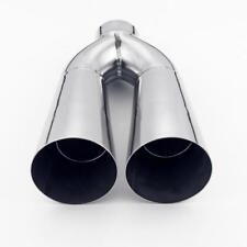 Twin Trumpet Shape 3 inch Outlet 2 inch In 10 Long Stainless Steel Exhaust Tip