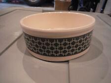 """NEW Pet Trends 5"""" Diameter x 2"""" Tall Ceramic Geometric Black/Ivory Dog Cat Bowl"""