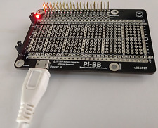 Pi-BB - Half-size double sided powered breadboard, USB powered for Raspberry Pi.
