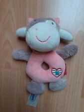 Babydream Greifling rosa Kuh mit Rassel - Höhe 14 cm - Breite 13 cm - Tiefe 7 cm