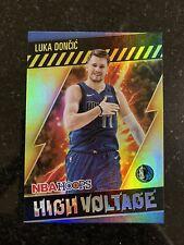 2020-21 Panini NBA Hoops Luka Doncic #18 High Voltage Holo Foil Dallas Mavericks
