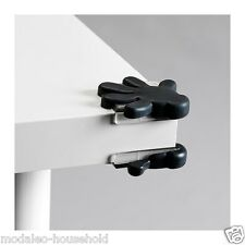 Ikea PATRULL Pk 8 BLACK Child Safety Table /Cabinet Corner Bumper Protector-B786