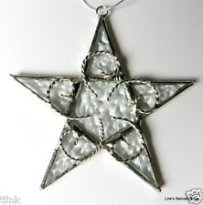 Stained Glass Handmade Clear Texture Star ornament sun catcher
