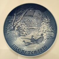 Bing & Grondahl Pheasant In The Snow At Chrismas Collector Plate 1970 Porcelain
