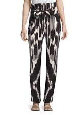 Theory Gunilla Interlace Ikat Patterned Pants Paper Bag Waist Size 10 NEW 0254