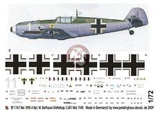 """Peddinghaus 1/72 Bf 109 E-4 """"White 1"""" Markings Wilhelm Balthasar 1./JG 1 1767"""