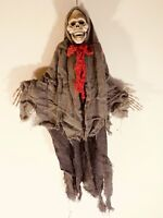 Vintage Halloween Hanging Old Hag Skeleton, 24 Inches Long