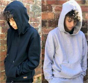Mens Hoodie Overhead Hoody Hooded Sweatshirt Jumper by RAGGS Pouch Pocket
