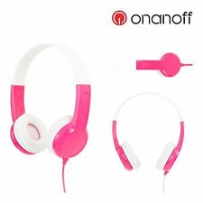kinder kopfhörer von onanoff, buddyphones model-pink-band begrenzung lock ho