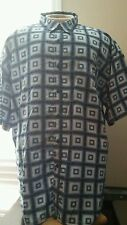 PJ Mark Men's XXL Checkered Multi Color Button Front Short Sleeve Shirt 342