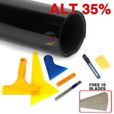 Window Tint Film Black 35% VLT 760mm X 7m Roll + Window Tinting Tendon Tools Kit