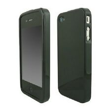 BLACK SOFT GEL CASE FOR iPHONE 4 4G + FREE SCREEN PROTE