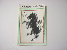 VECCHIO ADESIVO anni '80 / Old Sticker CALCIO FOOTBALL JUVENTUS zebra (cm 7x10)