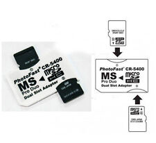 2PCS White DUAL SLOT MICRO SD TO MS PRO DUO STICK CR-5400 ADAPTERs PHOTO FAST