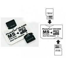 10PCS White DUAL SLOT MICRO SD TO MS PRO DUO STICK CR-5400 ADAPTERs PHOTO FAST