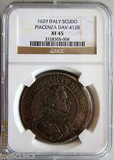 1629 Italy Scudo PLACENZA DAV-4128 NGC XF45