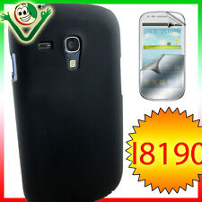 2x PELLICOLA+Custodia back cover per Samsung Galaxy S3 MINI i8190 rigida Nera
