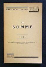 FRANCE, La SOMME (76), Marques postales 1698-1876, Vincent Flick 1955, scarce
