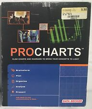 Used PROCHARTS Business Software Windows 98/ME/NT CD-ROM Disc CIB Boxed Complete