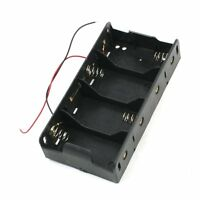 Spring Clip Black 4 x 1.5V D Size Battery Batteries Holder Case DT