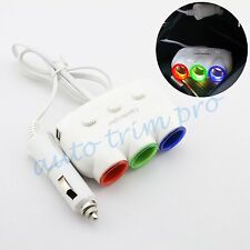 Auto Cigarette Lighter Charge 3 Way Socket Adapter + Dual USB Port Accessories