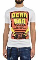 Dsquared2 T-Shirt Blanc Homme Imprimé Graphique Mod.S74GD0447S22427100