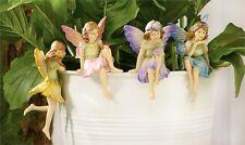 FAIRY GARDEN Miniature ~ Flower Garden Fairy Pot Huggers – Set of 4 ~ Mini Do...