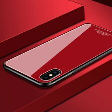 iPhone X XS MAX XR 7 8 Plus Slim Thin Bumper Case Cover Tempered Glass For Apple