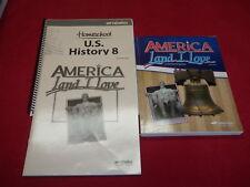 Abeka 8th America Land I Love Student Textbook/Answer Key Video Manual Lot Of 3