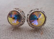 HYPOALLERGENIC Stud Earrings Large Made with Swarovski Crystal with Rhinestones